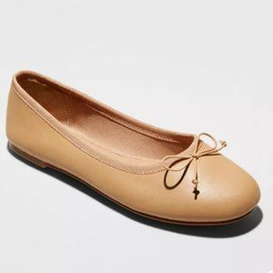 Alyssa Faux Leather Bow Ballet Flats